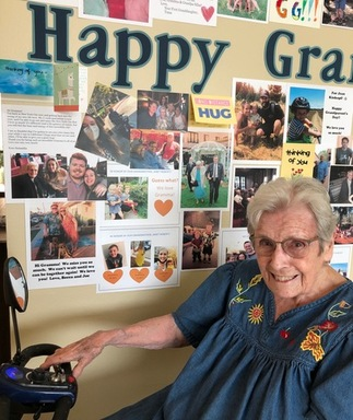 Grandparent's Day wall at Emerald Court